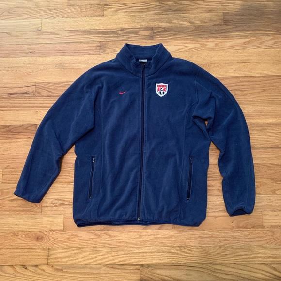 Nike Other - Nike US Soccer Fleece Zip Up Jacket Sweater